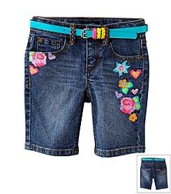 Squeeze® Girls' 2T-6X Marti Wash Bermuda Shorts