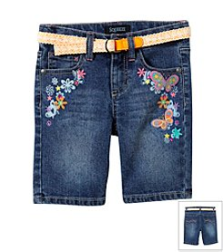 Squeeze® Girls' 2T-6X Stone Wash Multi Bermuda Shorts