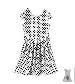 Jessica Simpson Girls' 7-16 Dot Ramie Flare Dress