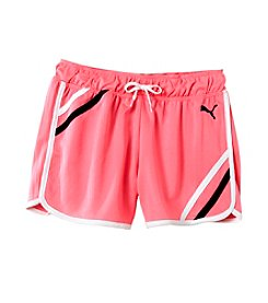 PUMA® Girls' 2T-16 Mesh Gym Shorts