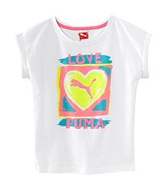 PUMA® Girls' 2T-6X Love Extended Tee
