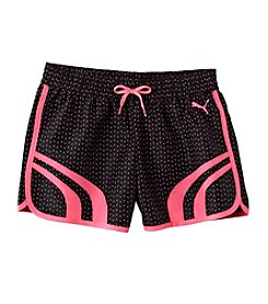 PUMA® Girls' 2T-6X Core Printed Shorts