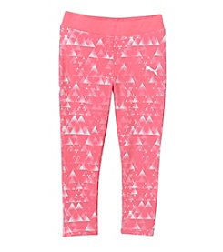 PUMA® Girls' 2T-6X Geo Print Capri Leggings