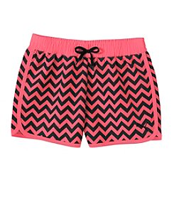 PUMA® Girls' 2T-6X Printed Chevron Shorts