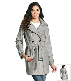 MICHAEL Michael Kors® Double-Breasted Hooded Trench Coat