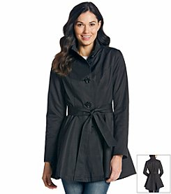 Betsey Johnson® Single-Breasted Trench Coat