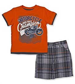 Nannette® Boys' 2T-7 2-Piece Motorcycle Outfit Set