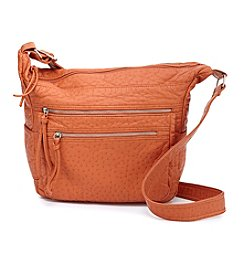 GAL Ostrich Washed Convertible Hobo