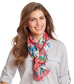 Collection 18 Hazy Floral Loop Scarf