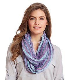 Collection 18 Lurex Stripe Loop Scarf