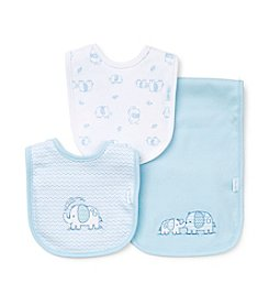 Little Me® Baby Boys Elephant Bib And Burp Set