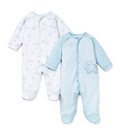 Little Me® Baby Boys' 2-Pack Elephant Footie