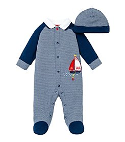 Little Me® Baby Boys' Sailboat Footie And Hat