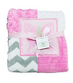 Cuddle Bear® Butterfly Patchwork Blanket
