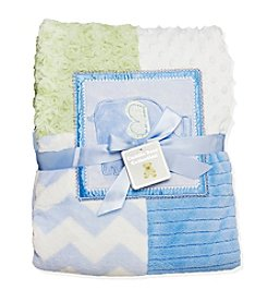 Cuddle Bear® Elephant Patchwork Blanket