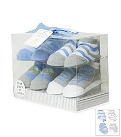 Cuddle Bear® Elephant & Chevron Stripe Sock Box