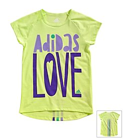 adidas® Girls' 2T-6X Drop Tail Raglan Love Tee