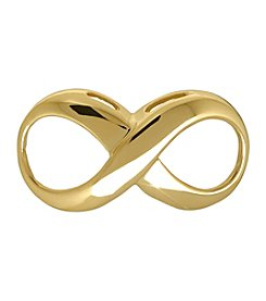 14K Yellow Gold Small Infinity Slide for Omega Pendant