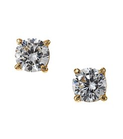 Marsala 18k Gold Plated Sterling Silver Cubic Zirconia Stud Earrings