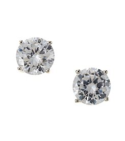 Marsala Sterling Silver Cubic Zirconia Stud Earrings