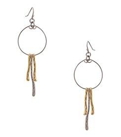 Erica Lyons® Metal Two-Tone Drop Pierced Earrings
