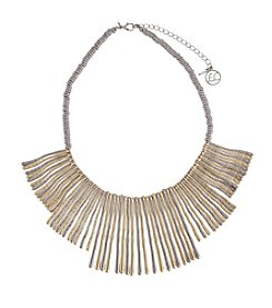 Erica Lyons® Metal Two-Tone Twigs Frontal Statement Necklace