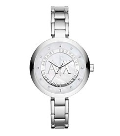 A|X Armani Exchange Women's Silvertone Watch with Silvertone Dial