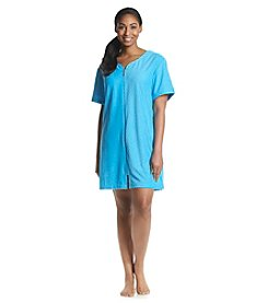 Jasmine Rose® Plus Size Providence Terry Zip Robe