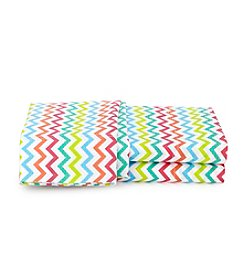 LivingQuarters Easy Care Chevron Sheet Sets