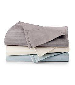 Elite Home Products Damask 600-Thread Count Reversible Stripe Sheet Sets
