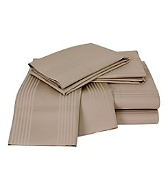 Elite Home Products Sedona Stripe 400-Thread Count 6-pc. Sheet Sets