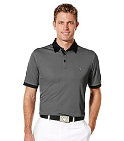 Callaway® Men's Big & Tall Short Sleeve Industrial Jacquard Polo