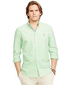 Polo Ralph Lauren® Men's Long Sleeve Solid Woven Oxford Shirt