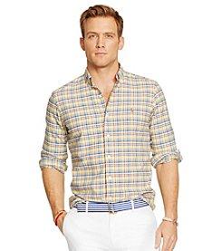 Polo Ralph Lauren® Men's Long Sleeve Medium Plaid Oxford Woven Shirt