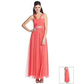 Bee Darlin' Jewel Waist Halter Dress