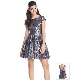 Bee Darlin' Sequin Skater Dress