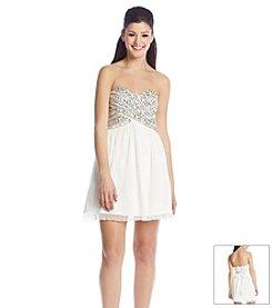 As U Wish® Jeweled Pleated Dress