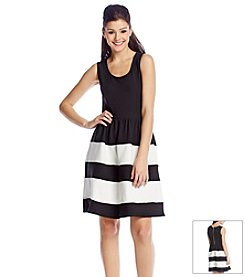 Sequin Hearts® Striped Fit And Flare Dress