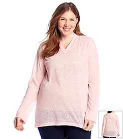 Ruff Hewn Plus Size Burnout High Low Hoodie