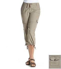 Ruff Hewn Plus Size Linen Blend Utility Crop