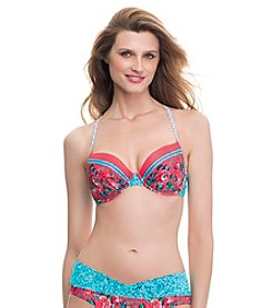 Profile Blush by Gottex® Shangrilla Adjustable E-Cup Bikini Top