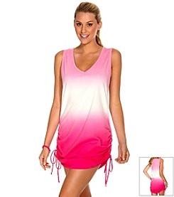 ECO SWIM by AquaGreen® Shirred Dipdye Coverup Dress