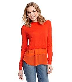 MICHAEL Michael Kors® Woven Hem Sweater