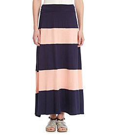AGB® Stripe Maxi Skirt