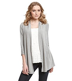 AGB® Peplum Layered Look Cardigan