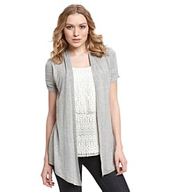 AGB® Tiered Lace 2-Fer Cardigan