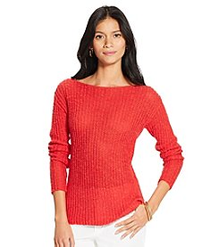 Lauren Jeans Co.® Ribbed Bateau-Neck Sweater