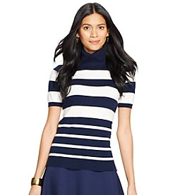 Lauren Ralph Lauren Short-Sleeved Turtleneck Sweater