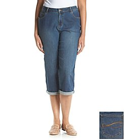 Relativity® Plus Size Denim Capri