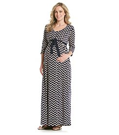 Three Seasons Maternity™ Chevron Print Maxi Dress